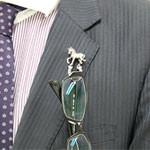 銀製眼鏡ホルダー 馬画像(還暦プレゼント.com)